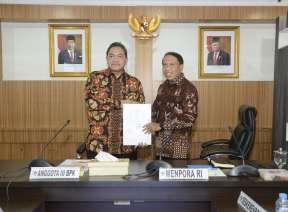 Gelar Entry Meeting di Kemenpora, BPK Akan Lakukan Pemeriksaan LK