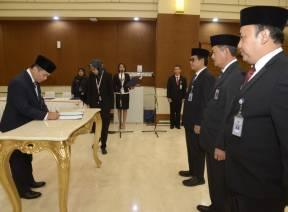 Sekretaris Jenderal BPK Lantik Pejabat Pimpinan Tinggi Pratama