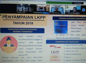 BPK Terima LKPP Tahun 2019 (Unaudited) Melalui Video Conference