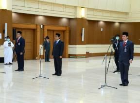 Ketua BPK Melantik Pejabat  Pimpinan Tinggi Madya Melalui Teleconference