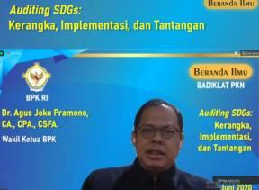 Wakil Ketua BPK Memaparkan Pemeriksaan SDGs Kepada Para Pemeriksa